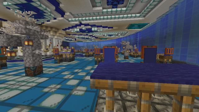 Столик в подводном ресторане Sibsix