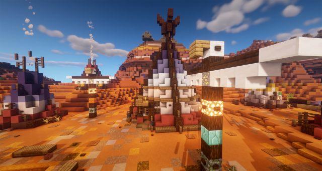 Земля Комайнчи - тотем-идол деревни