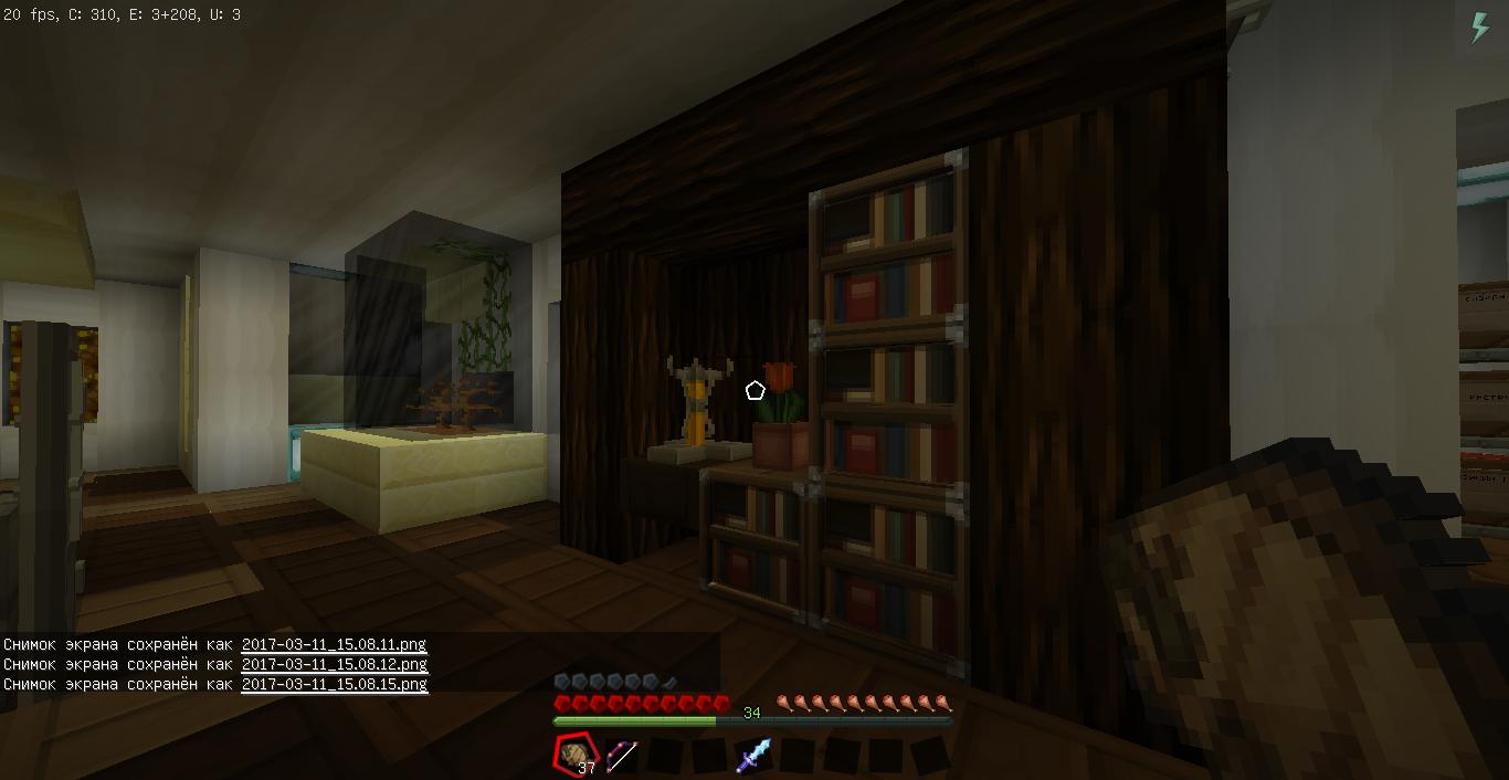 Дом в SunCity, библиотека