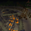 Подземелье залито лавой, пристроен кран
